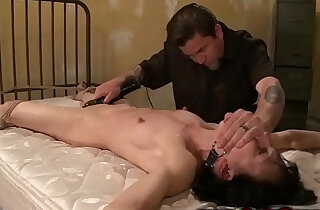 Gagged and tied sub in bdsm with her master xxx tube video