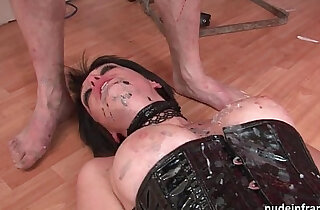 Big boobed french babe fucked by hard corrected in BDSM action xxx tube video