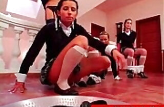 Dirty slutty schoolgirls get fucking her pussy with mouth dildos xxx tube video