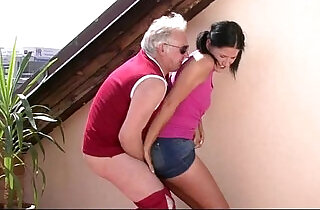 Horny old dad bangs sons girlfriend xxx tube video