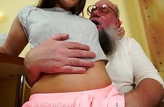 Nasty grandpa fucks Liza Shay xxx tube video