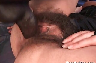 Hot sexy busty brunette chick playing with her hairy xxx tube video