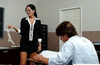 Teacher in glasses Ava Addams gets big tits fucked xxx tube video