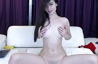 Sexy Pale Skinned Babe masturbates With Tits Fingers Her Holes on Webcam pt xxx tube video